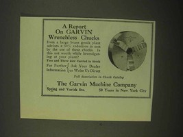 1922 Garvin Wrenchless Chucks Ad - A Report - $14.99