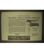 1922 Goodell-Pratt All-Steel Mitre Box No. 1285 Ad - $14.99