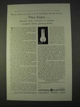 1931 General Electric Sunlight Mazda Lamp Ad - Enjoy - $14.99