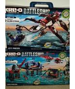 KRE-O Battleship 38955 Alien Strike &  38974 Battle Base  Ages 7-14 NEW ... - $59.39