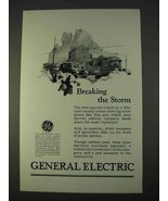 1925 General Electric Ad - Breaking the Storm - $14.99