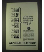 1927 General Electric Ad - Out of the Family Dollar - $14.99