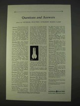 1931 General Electric Sunlight Mazda Lamp Ad - Answers - $14.99