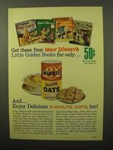 1964 3 Minute Quicker Oats Ad - Walt Disney's Books - $14.99