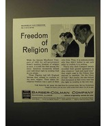 1964 Barber-Colman Company Ad - Freedom of Religion - $14.99
