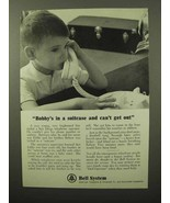 1964 Bell Telephone Ad - Bobby's in a Suitcase - $14.99