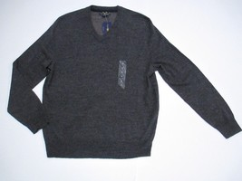 Club Room Sweater Merino Blend V-Neck, Gray, Sz. Small - £28.49 GBP