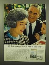 1964 Clairol Come Alive Gray Hair Color Ad - $14.99