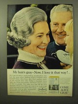 1964 Clairol Come Alive Gray Hair Color Ad - Love It - $14.99