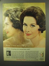 1964 Clairol Loving Care Hair Color Ad - Only the Gray - $14.99