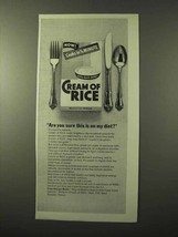 1964 Cream of Rice Cereal Ad - This is On My Diet? - $14.99