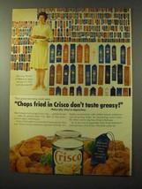 1964 Crisco Shortening Ad - Chops Don't Taste Greasy - $14.99