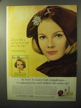 1964 Cover Girl Makeup Ad - Complexion So Natural - $14.99