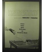 1964 Kimberly-Clark Kimberly Bond Paper Ad - $14.99