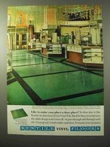 1964 Kentile Architectural Vinyl Asbestos Tile Ad - $14.99