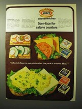 1964 Kraft Cheese Slices Ad - Open-Face for Calorie - $14.99