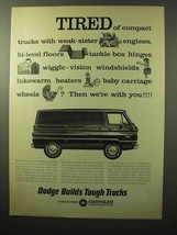 1964 Dodge Van Ad - Tired of Compact Trucks - $14.99