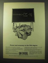 1964 GM Diesel N Engines Ad - Power and Economy - $14.99