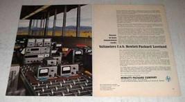 1964 Hewlett-Packard Voltmeter Ad - 740A, 3400A, 3440A - $14.99