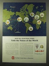 1964 RCA Electron Power Tubes Ad - Link Voices of World - $14.99