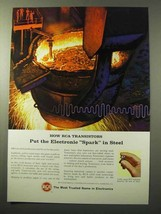 1964 RCA Transistors Ad - Electronic Spark In Steel - $14.99