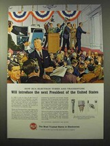 1964 RCA Electron Tubes and Transistors Ad - President - $14.99