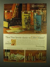 1965 Libbey Glasses Ad - Classics Collection, Rainbow - $14.99