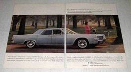 1965 Lincoln Continental Ad - Distinguished - $14.99
