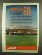 1965 Las Vegas Convention Center Ad - Under Big Top - $14.99