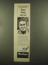 1965 MacGregor MT Tourney Golf Clubs Ad - Toney Penna - $14.99