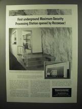 1964 Recordak Processing Center Ad - Maximum Security - $14.99