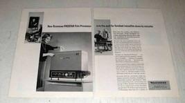 1964 Recordak Prostar Film Processor Ad - Minutes - $14.99