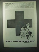 1964 Red Cross Ad - Always There With Your Help - $14.99
