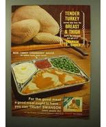 1964 Swanson Turkey TV Dinner Ad - Tender Turkey - $14.99