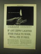 1965 Zippo Lighter Ad - Fails To Work - $14.99