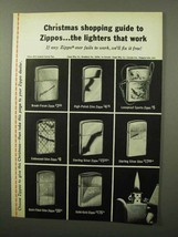 1964 Zippo Lighter Ad - Christmas Shopping Guide - $14.99
