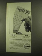 1965 Gulf Oil Ad - Growth is Byword - $14.99