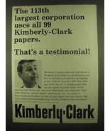 1965 Kimberly-Clark Paper Ad - 113th Largest - $14.99