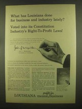 1965 Louisiana Development Ad - Business and Industry - $14.99