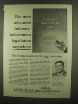 1965 Louisiana Department of Commerce and Industry Ad - $14.99
