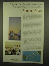 1965 Matson Lines Ad - Grace And Charm of South Seas - $14.99