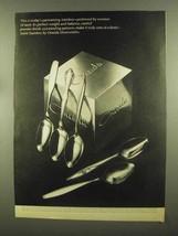 1965 Oneida Stainless Silverware Ad - Cantata, Textura - $14.99