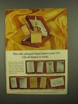 1965 Zippo Lighter Ad - Like All Zippos, It Works - $14.99
