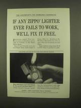 1965 Zippo Lighter Ad - Fix It Free - $14.99