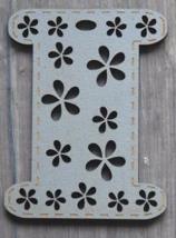 Grey Mini Painted Wooden Spool 1pc cross stitch bobbin The Bee Company  - $5.00