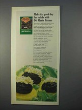 1966 Del Monte Prunes Ad - A Good Day For Salads - $14.99