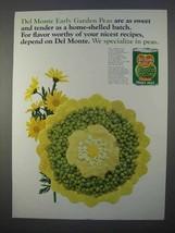 1966 Del Monte Early Garden Sweet Peas Ad - $14.99