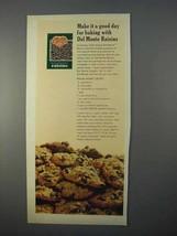 1966 Del Monte Raisins Ad - Raisin Honey Drops Recipe - $14.99