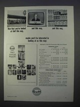 1966 Gulf Oil Ad - Now That You've Looked At This Way - $14.99