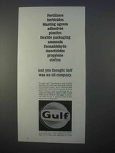 1966 Gulf Oil Ad - You Thought Gulf Was an Oil Company - $14.99